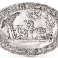 6. a polish silver pidyon-ha-ben plate