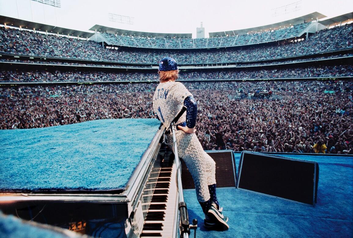Terry O'Neill, Elton John, Dodger Stadium, 1975