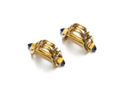 293. pair of sapphire cufflinks, cartier, 1950s