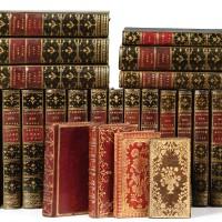 5. almanach des muses. delalain, 1765-1793. 20 vol. in-12, sur hollande, maroquin olive de l'époque [+ 4 almanachs].