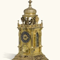274. a renaissance gilt-copper turmchenuhr with automaton and alarm,possibly joseph motte, augsburg, circa 1630 and later