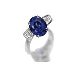 43. sapphire and diamond ring