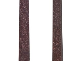 134. a pair of italian neoclassical gilt bronze and porphyry obelisks early 19th century
