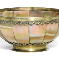 607. an anglo-indian silver-gilt mounted mother of pearl bowl, the mounts probably english, circa 1650 |