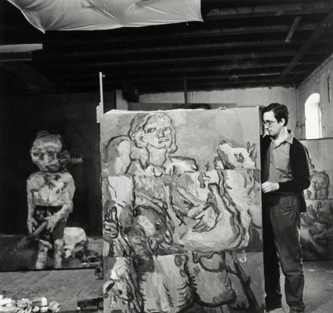 Georg Baselitz Studio Three Stripes The Hunter