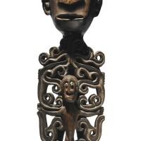 159. doreh people ancestor figure (korwar), west papua province (irian jaya), indonesia