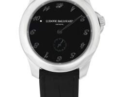 124. ludovic ballouard   「upside down」鉑金腕錶備旋轉時標,年份約2010。