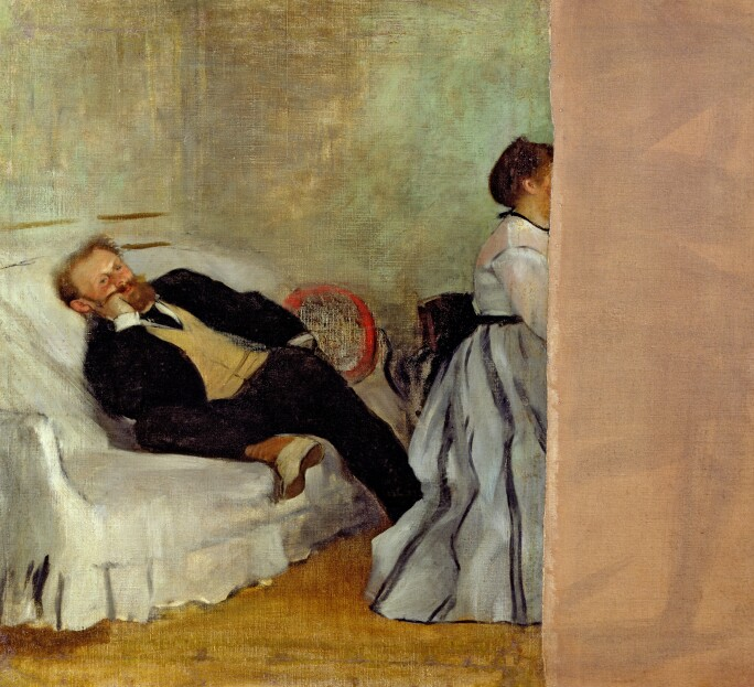 Monsieur and Madame Edouard Manet, 1868-69 (oil on canvas)
