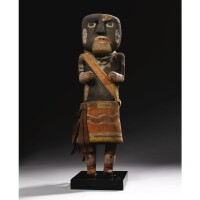 13. a large hopi polychrome wood kachina doll, depicting a snake priest