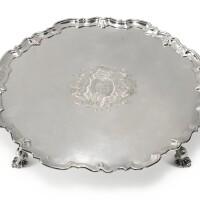 343. a george ii silver large salver, george hindmarsh, london, 1735 |
