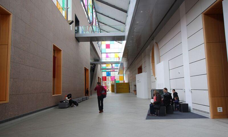 Interior view of the Musée d'Art Moderne et Contemporain in Strasbourg.