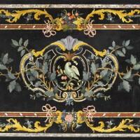 31. an italian scagliola top, second half of the 18th century,probablytuscan  