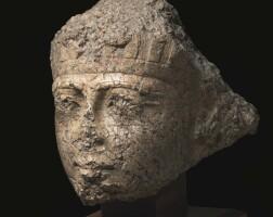8. an egyptian red granite head of ramesses ii, reign of ramesses ii, 1279-1213 b.c.