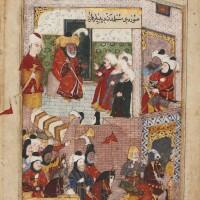 42. an illustrated leaf from a manuscript oflamii çelebi's maktel-i al-i resul, turkey, ottoman, circa1580