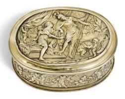 302. a fine continentalsilver-gilt toilet box, maker's mark wp or wb conjoined, possibly dutch, circa 1680 |
