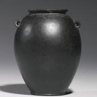 41. an egyptian black basalt jar, predynastic period (nagada i)/ 1st dynasty, circa 3500-2900 b.c.