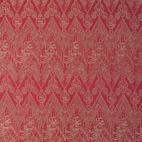 16. an ottoman red-ground calligraphic silk textile panel, turkey, 19th/20th century
