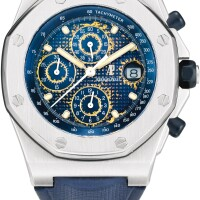 46. audemars piguet | royal oak offshore, reference 25721st a stainless steel chronograph wristwatch with date, circa 2000