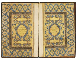 36. a large illuminated qur'an, india, mughal, late 16th/17th century