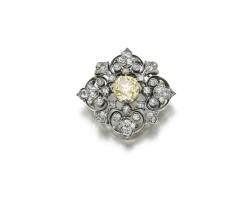 25. diamond brooch, late 19th century