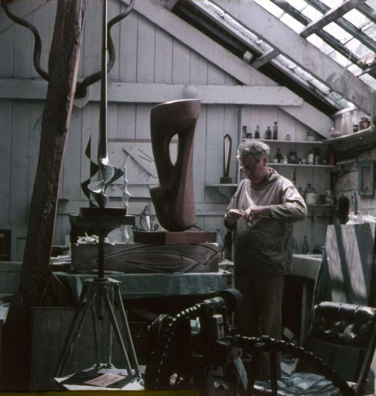 Denis Mitchell in his studio.jpg