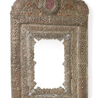 238. a swedish baroque lead mirror,last quarter 17th century
