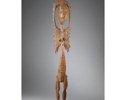 9. magnifique et rare statue féminine, groupe ewa, rivière korewori, moyen sepik, papouasie nouvelle-guinée
