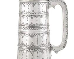 438. a silver tankard, a. sokolov, st petersburg, circa 1890-1895