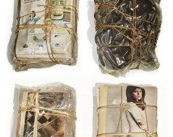 147. christo | wrapped magazines and package
