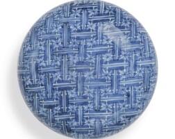 334. 清康熙 青花錦紋印泥盒 《宣德年製》仿款 |