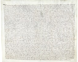 47. large document recording gifts. france (mont-st-eloi, near arras), dated november 1290