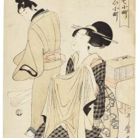 35. kitagawa utamaro i (1750s–1806)visiting komachi (kayoi komachi) edo period, 19th century |