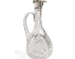 457. a silver-mounted cut glass cruet, maker's mark a.k, probably alexander karpov, st petersburg, 1908-1917
