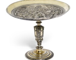 610. a continental silver gilt tazza, unmarked, probably spanish or spanish netherlands, circa 1600 |
