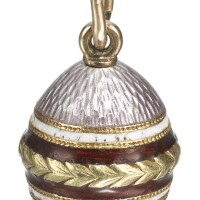 431. a gold and enamel egg pendant, probably fabergé, workmaster alfred thielemann, st petersburg, circa 1895