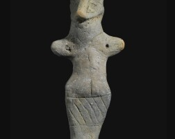 8. a vinca terracotta figure of a woman, neolithic period, vinča-pločnik-phase d1, circa 4700-4500 b.c.