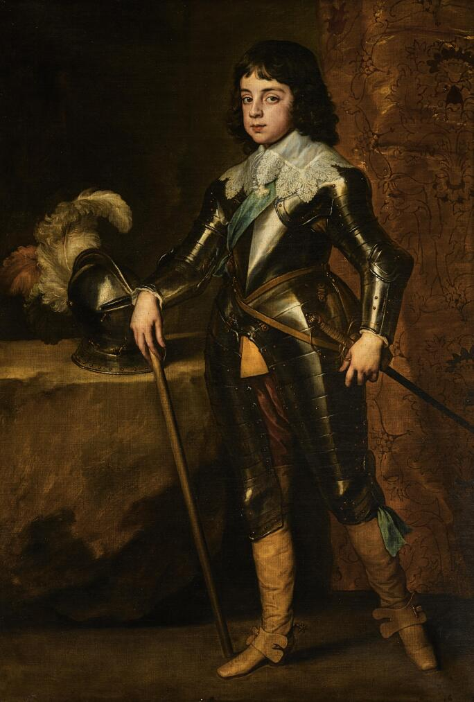 Sir Anthony Van Dyck's Portrait of Charles II, when Prince of Wales. Painted in 164. Oil on canvas.