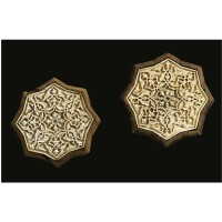 313. a pair of ottoman carved rosewood and ivory star panels, turkey, first half 16th century