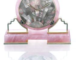 12. mother-of-pearl and quartz clock, cartier, 1981
