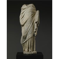 62. amarble figure of a girl, roman imperial, circa 1st century a.d.