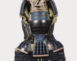 12. an okegawa-do gusoku[armour] edo period, 17th - 18th century signed in red lacquer iwai yoshikazu |