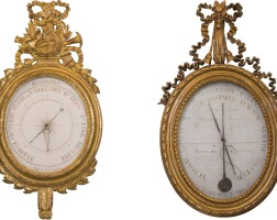 10. a louis xvi carved giltwood barometer, circa 1775