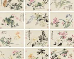 511. 張熊 1803-1886 | 四季花卉