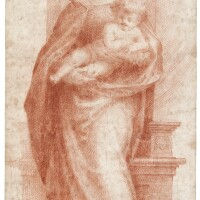 14. florentine school, 16th century   madonna and child, after fra' bartolommeo