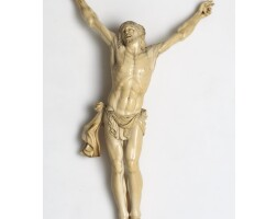 6. a sizeable ivory figure of christ crucified flemish, probably second half 17th century
