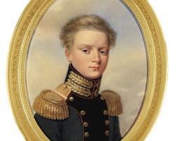 322. henri benner | portrait of grand duke michael pavlovich of russia (1798-1849), circa 1821