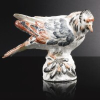 1. a meissen figure of a trumpeter pigeon circa 1732