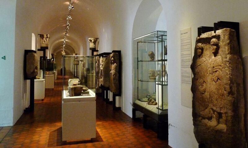 Interior view of the Musée Archéologique de Strasbourg.