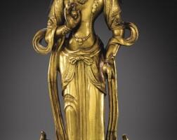 121. 清十八世紀 鎏金銅淨諸業者菩薩立像