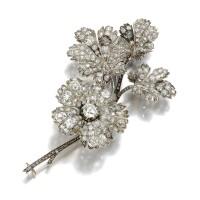 6. diamond brooch, late 19th century